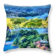 Sweden Colors Throw Pillow