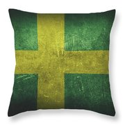 Sweden Distressed Flag Dehner Throw Pillow
