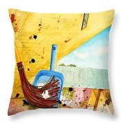 Sweepin' It Up Throw Pillow