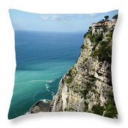 Sweeping Around The Amalfi Coast Throw Pillow