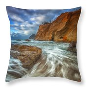 Sweeping Tides Throw Pillow