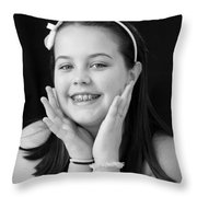 Sweet And Innocent Throw Pillow