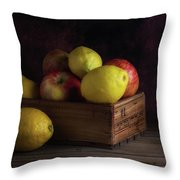 Sweet And Sour Fruits Still Life Throw Pillow