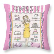 Sweet Birthday Throw Pillow