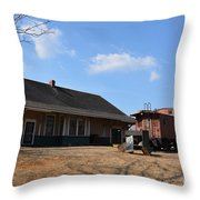Sweet Briar Train Station Throw Pillow