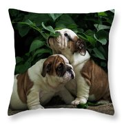 Sweet Couple Throw Pillow