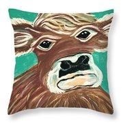 Sweet Cow Throw Pillow