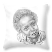 Sweet Eyes Throw Pillow