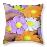 Sweet Floral Array Throw Pillow
