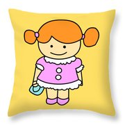 Sweet Girl Throw Pillow
