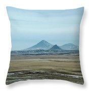 Sweet Grass Hills Pyramids Throw Pillow