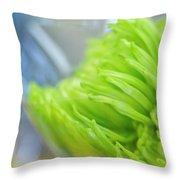 Sweet Green Mum Throw Pillow