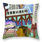 Sweet Home Chicago Throw Pillow
