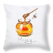 Sweet Honey Throw Pillow