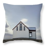 Sweet House Under A White Cloud Throw Pillow