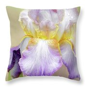 Sweet Iris Pastel Throw Pillow