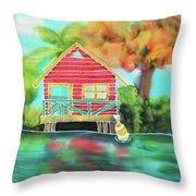 Sweet Island Home Throw Pillow