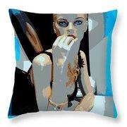 Sweet Judy Blue Eyes Throw Pillow