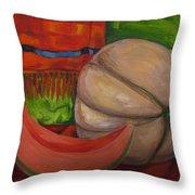 Sweet Juicy Cantalope Throw Pillow