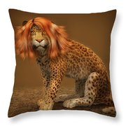 Sweet Lady Leopard Throw Pillow