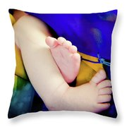 Sweet Little Baby Feet Throw Pillow