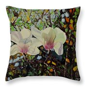 Sweet Magnolias Throw Pillow