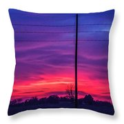 Sweet Nebraska Sunset 004 Throw Pillow