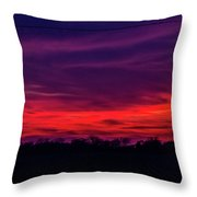 Sweet Nebraska Sunset 005 Throw Pillow