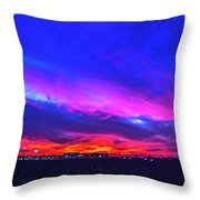 Sweet Nebraska Sunset 001 Throw Pillow
