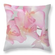 Sweet Orchid Throw Pillow