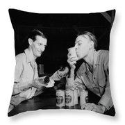 Sweet Overseas Beer Ration Throw Pillow