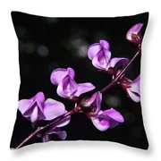 Sweet Pea Delight Throw Pillow