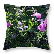 Sweet Pea In Tahoe Throw Pillow