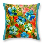 Sweet Peas From Japan Throw Pillow