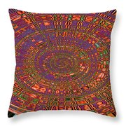 Sweet Pepper Melody Oval Abstract Throw Pillow