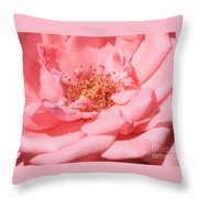 Sweet Pink Rose  Throw Pillow