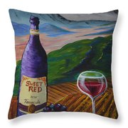 Sweet Red Throw Pillow