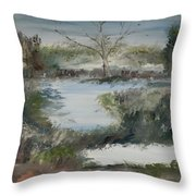 Sweet River Throw Pillow