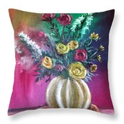 Sweet Roses Throw Pillow