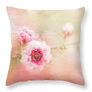 Sweet Spring Blossom Throw Pillow