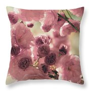 Sweet Spring Blossoms Throw Pillow