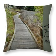 Sweet Springs Nature Preserve Text Throw Pillow