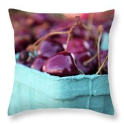 Sweet Summer Cherries Throw Pillow