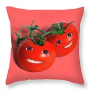 Sweet Tomatoes Throw Pillow