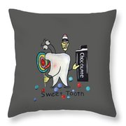 Sweet Tooth T-shirt Throw Pillow