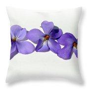 Sweet Violet Throw Pillow
