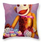 Sweetheart Made Of Sockies Throw Pillow