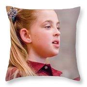 Sweetly Singing Throw Pillow