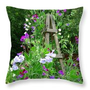 Sweetpea Throw Pillow