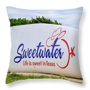 Sweetwater Sign  Throw Pillow